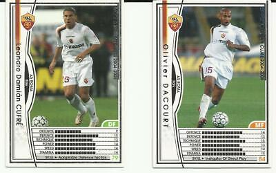 Panini Wccf European Clubs 2004/2005 Cards X 2 As Roma  Cufre 163 & Dacourt 168