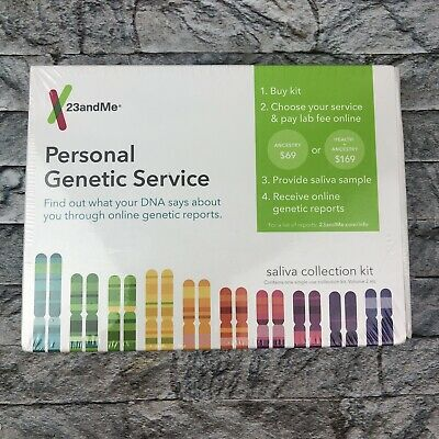 23andMe Personal Genetic Service Ancestry Health DNA Test Saliva Collection Kit