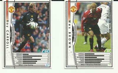 Panini Wccf European Clubs 2004/2005 Cards X 2 Manchester United 49 & 50