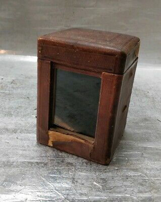 Antique Carriage Clock Case With Glass And Glass Cover- Wants Restoration