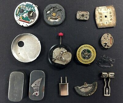 Vintage Watch and/or Clock Parts (12)