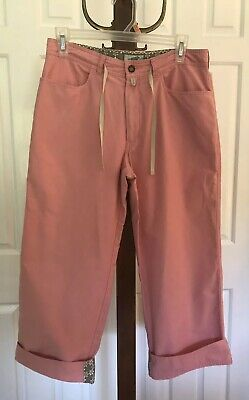 Horny Toad Cropped Pants Cuffed Drawstring Pink Capri Women's Size 6