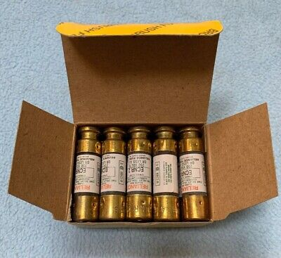 Reliance Ecnr 2 Time Delay Fuses 2A-B 250V Class Rk5  New Box Of 10