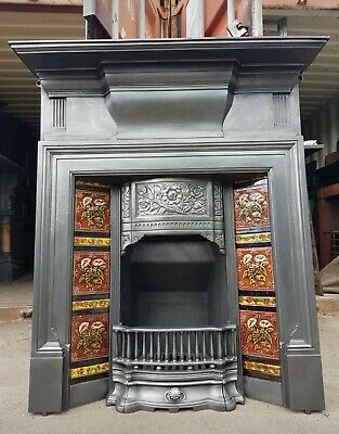 Victorian Cast Iron Tiled Combination Fireplace