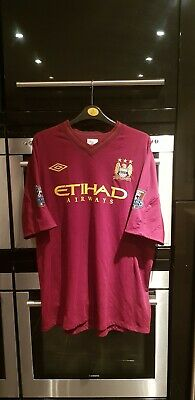 Manchester City 2012/13 Away Shirt, UMBRO, XXL, Aguero with champions patches