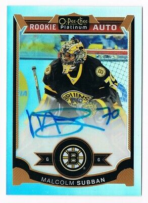 2015-16 O-Pee-Chee OPC Platinum Rookie Rainbow Autograph #161 Malcolm Subban