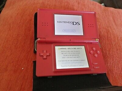 Nintendo DS Lite Console Handheld Video Game System NDSL DS NDS DSL-red