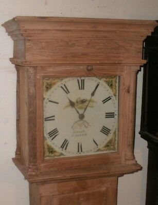 "Antique  Pine   "" Warwick  ""  Painted Dial Grandfather / Longcase Clock"