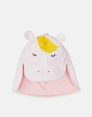 Joules Girls Sun Fun Character Hat in PINK STRIPE HORSE Size 3yrin7yr