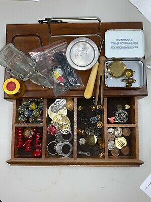 Vintage Junk Drawer Buttons, Coins And More