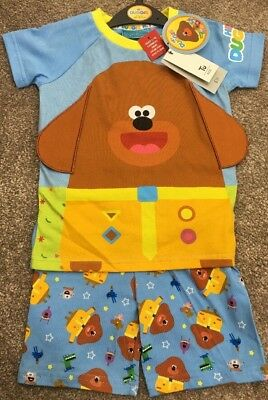 CBeebies Hey Duggee Boys PJ's Pyjamas Sainsburys TU Stick Badges 3-4 Years NEW
