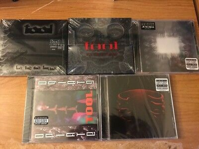 Tool 5 Cd Lot - 10,000 Days, Lateralus, Aenima, Undertow & Opiate - New Unopened