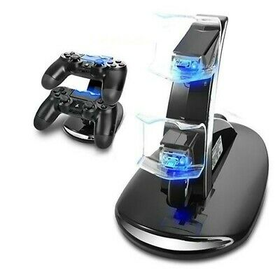 PS4 Controller Ladestation Dual LED Playstation 4 Charger Station USB