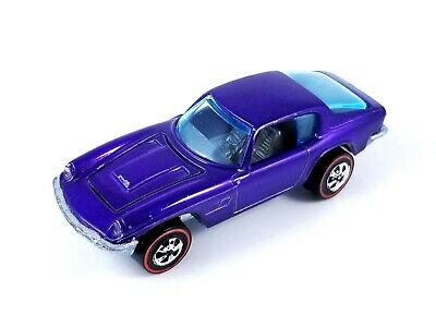 Hot Wheels - Redline - Maserati Mistral - 1969 - Purple - HK - Excellent