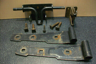 Stanley Hvy Ga Steel Slide Bolt W Lockable Gate Latch & 2 Barn Door Hinges Bolts