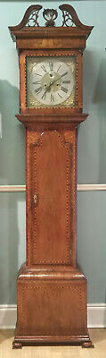 Early Irish Walnut Longcase Clock.