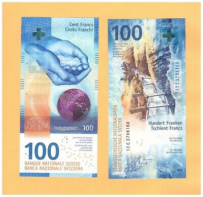 Switzerland 100 Francs Franken Franchi 2019 (2017) Unc P-New Immediate Shipping