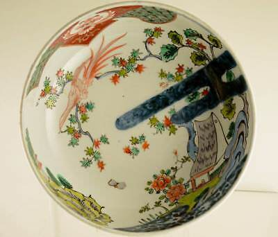 Large Antique Japanese Ko Kutani Porcelain Bowl, Late Edo