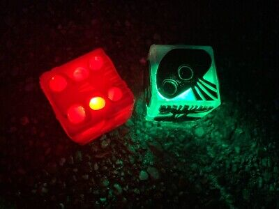 Disney Nightmare Before Christmas Oogie Boogie Dice Glow Cube Light-Up IN HAND