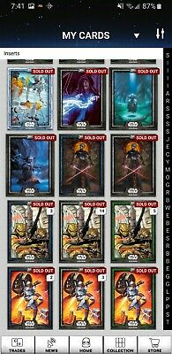 Early Topps Star Wars Card Trader SWCT Account collection from inserts section
