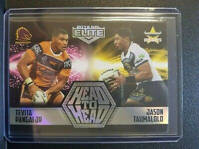 NRL Elite 2019 Head to Head Case Card HH1/8 #61/61 Pangai Jr v Taumalolo