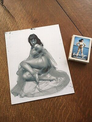 Betty Page print and playing card deck
