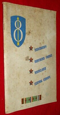 1944 WWII US Military Unit History Book 8th Eighth Combat Infantry Division