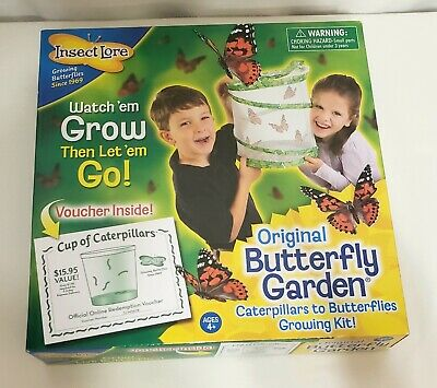 INSECT LORE Original BUTTERFLY GARDEN #1010 w/ VOUCHER Science Educational Kit