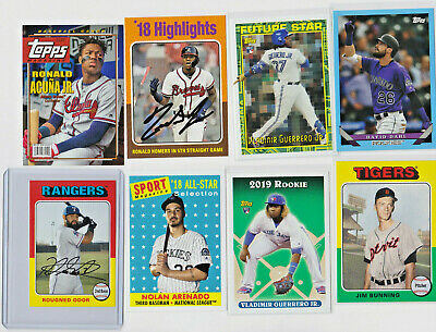 2019 Topps Archives Inserts & Parallels YOU PICK list RCs, /99, Mini, Highlights