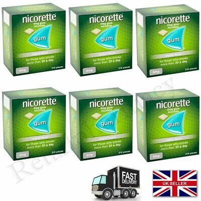 Nicorette Original Flavour Gum 4mg  (210 Pieces)  Expiry --2021 November Pack 6