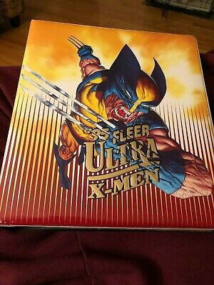 1995 Fleer Ultra X-Men Binder with Complete Base set (Read)