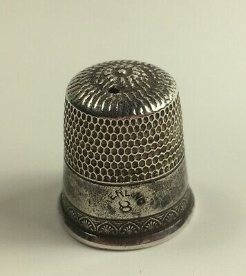 Vintage // Sterling Silver // Thimble // French Shell Pattern // Size 8