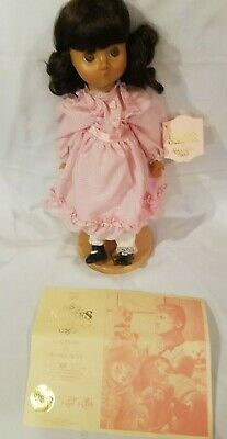 "Robert Raikes Originals Vintage Wooden Doll - Molly and Stand - 17"" orig Box"