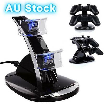 New LED USB Dual Dock Charging Station For Sony PS3 Controller Charger Wireless