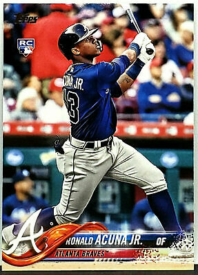 Roy! Ronald Acuna Jr Rookie! 2018 Topps Update #Us250 Atlanta Braves Acuña Hot!