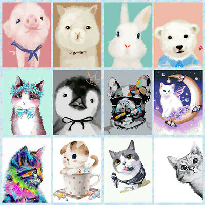 Cute Animal DIY Paint By Number Digital Acrylic Oil Painting Art Wall Home Decor