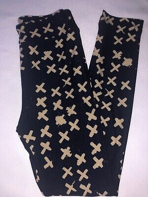 (BoxEE) LuLaRoe Kids Leggings L/XL New Navy W/ Beige X's