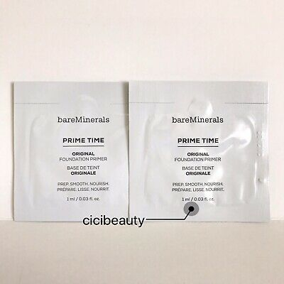 AU NEW BareMinerals Prime Time Foundation Primer 1ml x2