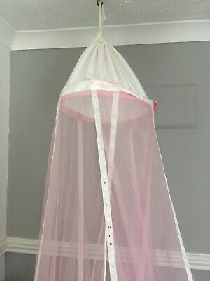 Girls Pink Net Bed Canopy