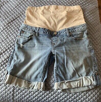 Jeanswest Size 10 Denim Roll-up Maternity Shorts