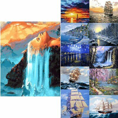 AU DIY Painting By Numbers Kit Oil Painting Canvas Home Decors Home Decor HOT