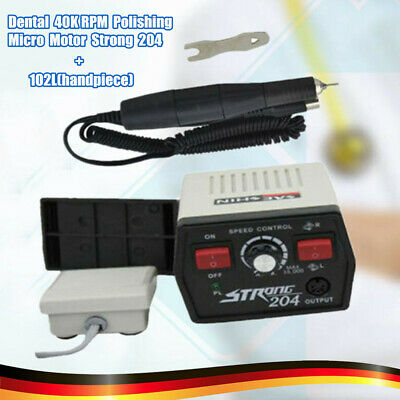 Strong 204+102 Micromotor with Handpiece, Dental Electric Marathon Micro Motor