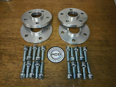 4x Audi A4 B8 & B9 Wheel Spacers 5x112 Hubcentric Spacers 20mm 66.5CB & 20 Bolts