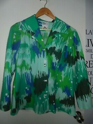 Vintage / retro 70's top/blouse made by Noble Frocks - Size 12-14