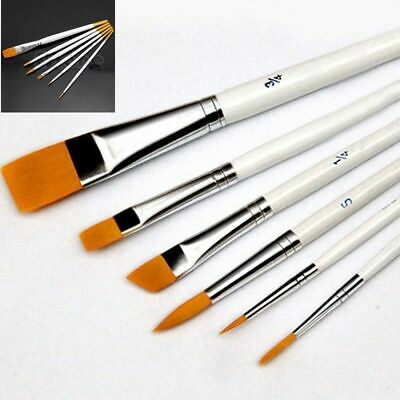 6Pcs/Set Art Painting Brushes Acrylic Oil Watercolor Artist Paint Brush useful