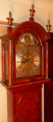 "Antique  Walnut  Brass Dial  ""  London ""   Longcase / Grandfather Clock"