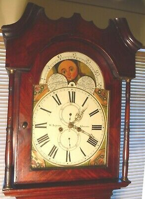 "Antique Mahogany Moon Phase  "" Gloucester ""  Longcase / Grandfather Clock"