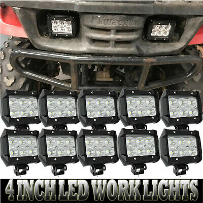 10X 4inch 180W LED Work Light Fit Driving Fog ATV Offroad CUBE Pods New Lights