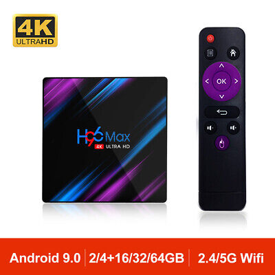 H96 MAX Android 9.0 TV Box Quad Core 4K HD Dual Wifi BT 4.0 Media TV Caja H96MAX