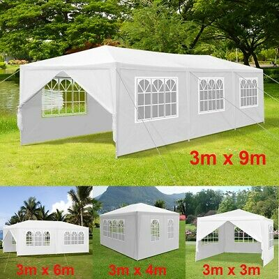 Gazebo Marquee Party Event Tent Waterproof Garden Patio Outdoor Canopy 4 Sizes